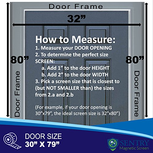Reinforced Magnetic Screen Door - Many Sizes and Colors to Fit Your...