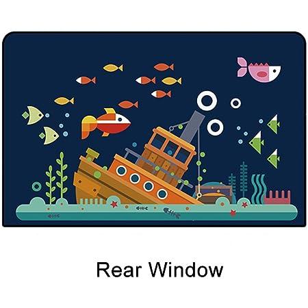 車用遮光サンシェード 78cm × 50cm車の窓枠にフィットするサンシェードプロテクター 車の日よけ あなたの子供のための最大限紫外線UVカット (A2 後部窓)