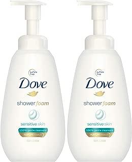Dove Shower Foam Sensitive Skin Body Wash 13.5 oz - 2-PACK