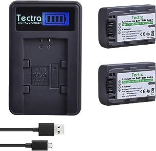 Tectra 2Pcs 1050mAh NP-FP50 Battery + LCD USB Charger for Sony NP-FP30 NP-FP60 NP-FP70 NP-FP71 Batteries; Sony DCR-HC30 40 43E 65 85 94E 96 DCR-SR30 40E 50E 60E 70E 80E 100 Cameras