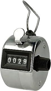 REY Contador Analógico de 4 Dígitos Plata, Registrador de
