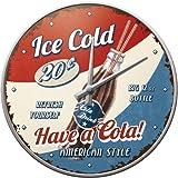 Nostalgic-Art Orologio da Parete USA Have a Cola – Idea Regalo per Amanti delle cene, Grande Decorazione per la Cucina, Design Vintage, Ø 31 cm