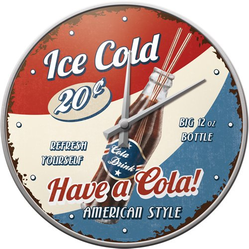 Nostalgic Art Wanduhr, USA-Have a Cola, Small