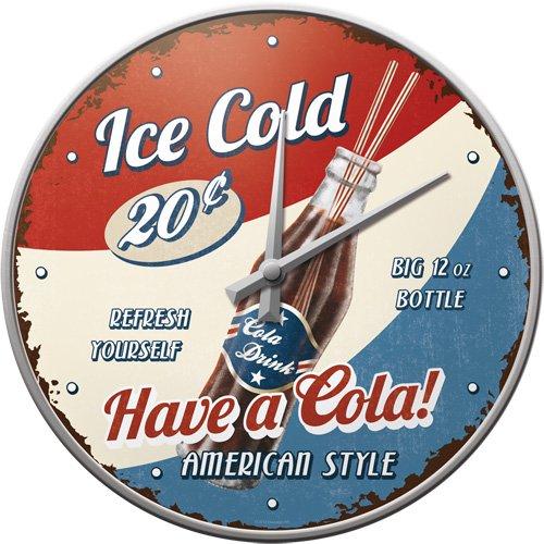 Nostalgic Art 51045 USA Have a Cola, Wanduhr, 31 cm