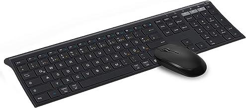 Jelly Comb Dual Bluetooth + 2.4G Funktastatur und Maus Set, Fullsize Wiederaufladbare..