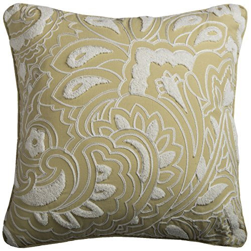 Rizzy Home Floral y Damask Formas – cojín Decorativo, Color Verde, 18 x 18