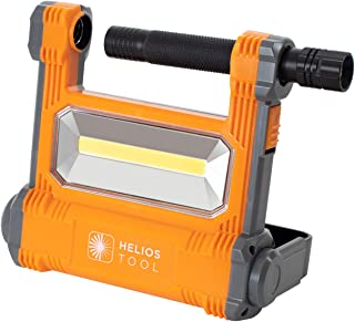 Helios Tool 1800 Lumen LED Rechargeable Work Light with Detachable Flashlight
