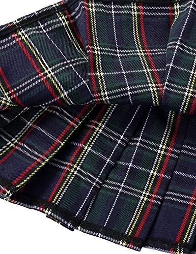 iiniim Minifalda Mujer Sexy Falda Plisada Escocesa Mini Falda Corta a Cuadros Disfraz Uniforme Escolar Japonesa Cosplay Costume Scottish Verde Talla Única