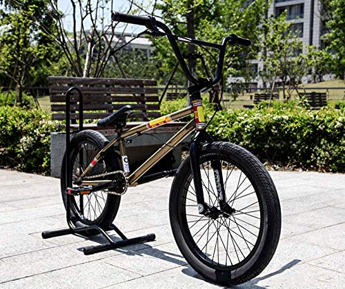 GASLIKE Vélo BMX de 20 Pouces pour Adultes, Chrome-molybdène en Acier Fantaisie Stuntry Show BMX Vélo, pour Le Niveau de débutant aux Cyclistes avancés Vélos de Rue