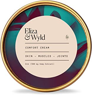 Eliza & Wyld | Comfort Cream and Pain Relief Balm | Eczema, Psoriasis, Joint Pain Healing (2oz) | Made in USA, Vegan