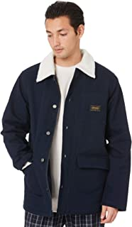 Stussy Men's Felx Mens Workwear Jacket Cotton Canvas Rayon Blue