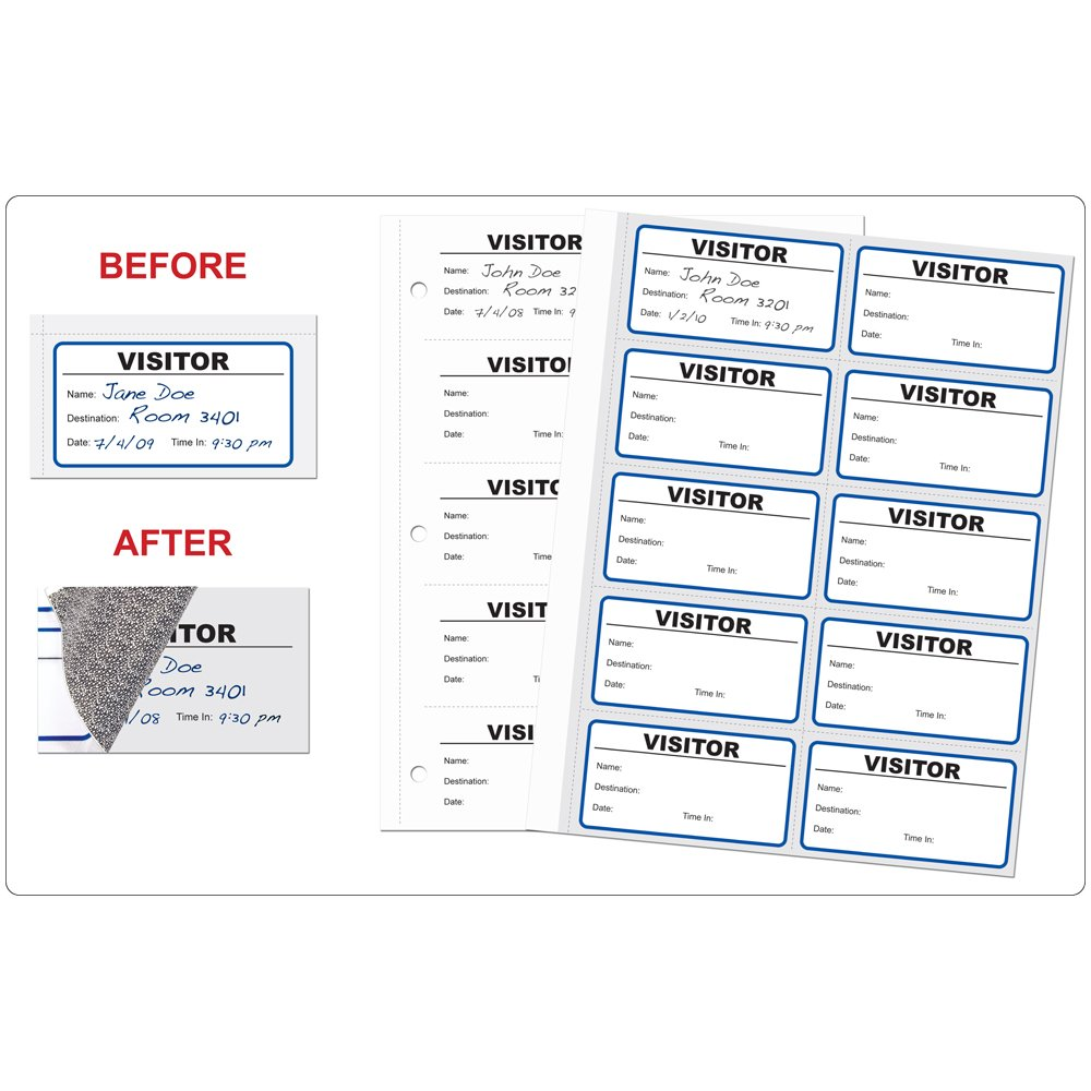 PDC Healthcare Dedication VPHA-1 Visitor Pass Form Paper Log Tampa Mall Record with R