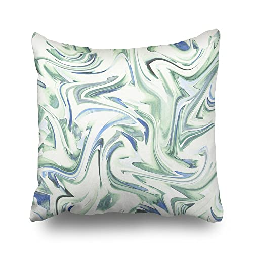 Blue And Green Beach Pillows Amazoncom