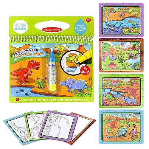 lzndeal Pintura a Base de Agua Reutilizable Libro para Colorear (Tabla de Dibujo mágica Doodle para niños Juguete para niños