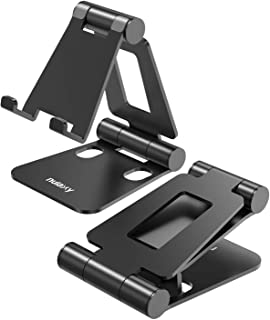 Nulaxy スマホスタンド 折り畳み式 270°角度調整可能 iPad/タブレット/iPhone スタンド Nintendo Switchにも対応 (黒)