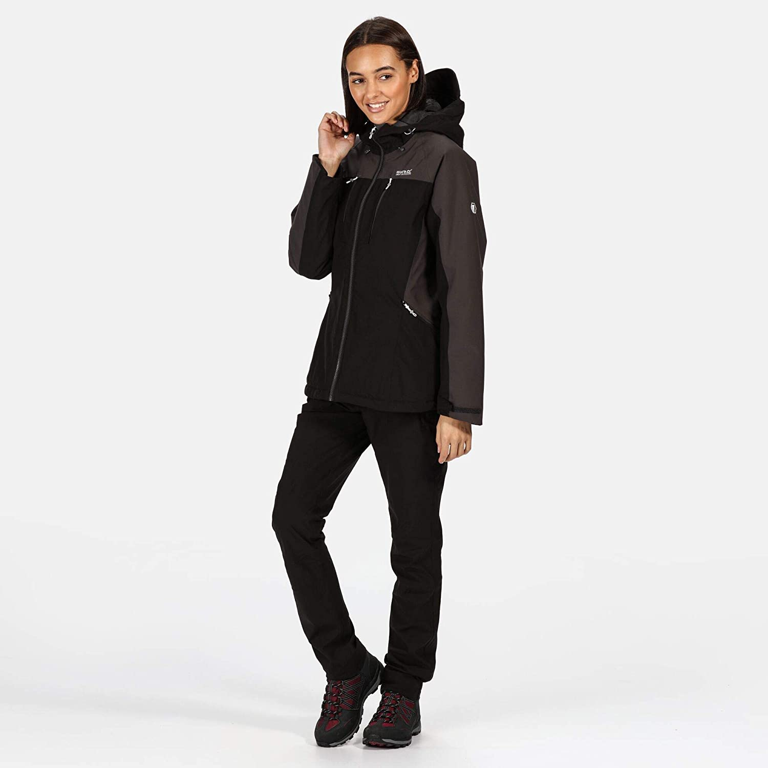 Regatta Womens Womens Highton Stretch Waterproof Breathable Taped Seams Insulated Hooded Jacket With Zipped Pockets Jacket