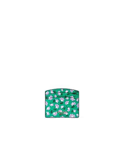 Kate Spade New York Spencer Party Floral Card Holder (Green Multi) Wallet