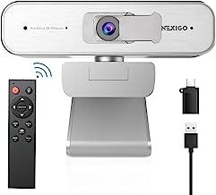 NexiGo 2K Zoomable Webcam with Remote Control and Sony Sensor | USB A & C Web Camera | AutoFocus | 1080P@ 60FPS | 3X Zoom ...