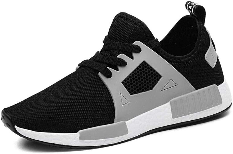 ZIXUAP Mann springaning skor Mode Slip Slip Slip On skor Andable Mes Athletic ljusljus Sports gående skor grå  2018 senaste