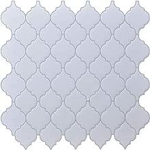 Peel and Stick Tile Backsplash - White Arabesque Tile Backsplash, Mosaic Backsplash Sticker, (10 Sheets)