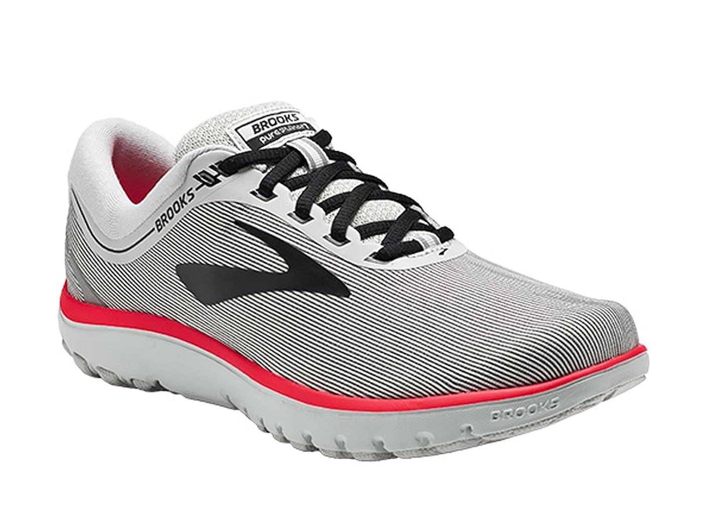 言い訳一過性脈拍Brooks(ブルックス) レディース 女性用 シューズ 靴 スニーカー 運動靴 PureFlow 7 - Grey/Black/Pink [並行輸入品]
