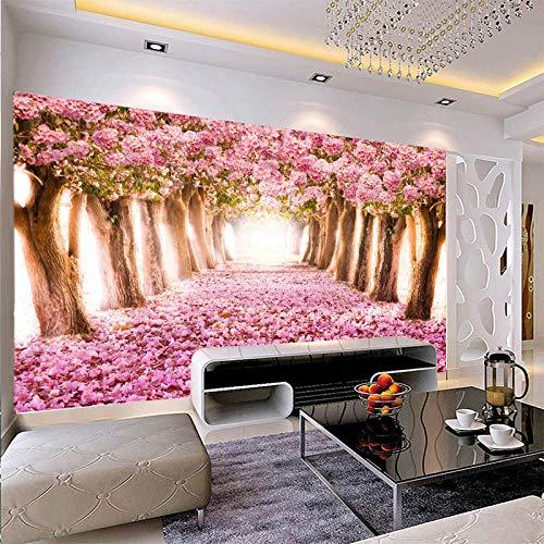 Fotobehang muur Muralscustom Wallpaper 1Aangepaste 3D muurschildering Middelgrote olieverfschilderij met bospad patroon als verticale achtergrond de gang scherm 430 * 300cm