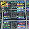 """60pcs Latest Multi-Channel Tamper Evident """"Honeycomb"""" Security Hologram 3D Stickers/Labels/Seals with Microtexts and Unique QR Code (20x40 mm - TamperSeals Group) #3"""