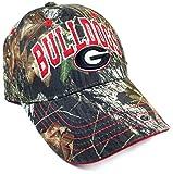 Solid Georgia Bulldogs Text Logo Mossy Oak Camo Hat