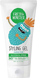 Fresh Monster Natural Hair Gel for Kids & Babies, Alcohol-Free, Toxin-Free, Flexible Medium Hold, 6.0oz
