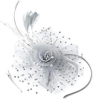 FENTORY Fascinators for Women Sinamay Wedding Hats Tea Party Headband