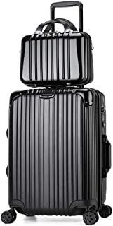 """Travel Luggage Trunk,Abs+Pc Trolley Case with Spinner Wheels,Women&Men Trolley Suitcase with TSA Lock (20-29""""Suitcase and 14"""" Hand Bag Set),D,24inch"""