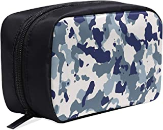 Autumn And Winter Travel Scarf Camouflage Print Portable Travel Makeup Cosmetic Bags Organizer Multifunction Case Small Toiletry Bags For Women And Men Brushes Case