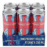 Thomas Tipple Raspberry Bellini– Sparkling Wine Cocktail - Premixed Alcohol Drinks – 6 x