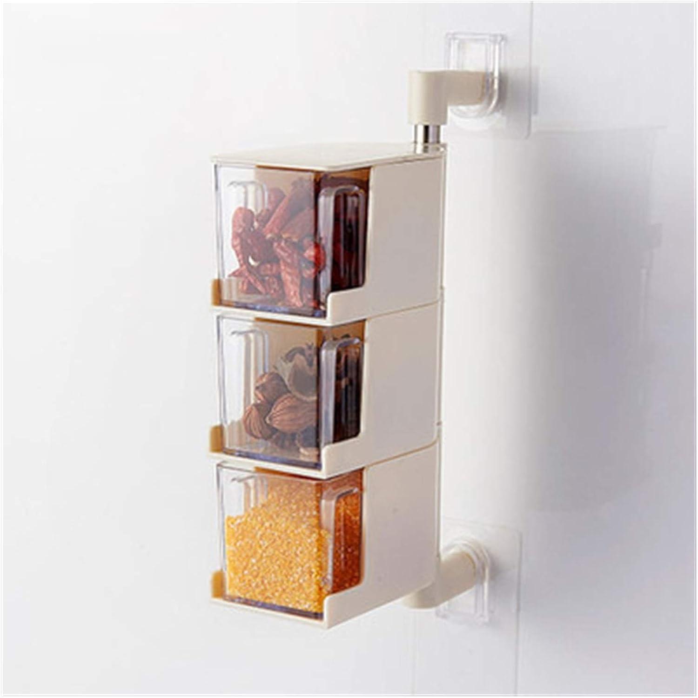 Anteaernx Seasoning Box Kitchen Rotatable Nail-free Wall-mounted Sales results No. 1 El Paso Mall