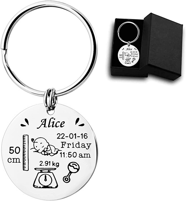Kooer Custom Personalized Calendar Keychain Engraved Special Day Calendar Keychain Gift For Couples Boyfriend Girlfriend