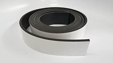 .062 6x 10 Neoprene Rubber Strips 60A Medium Hardness WITH ADHESIVE BACKING