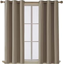 Deconovo Room Darkening Thermal Insulated Blackout Grommet Window Curtain for Living Room, Khaki,42x63-inch,1 Panel