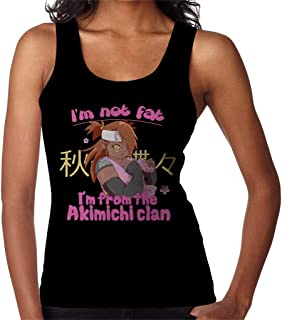 RHEYJQA Im Not Fat Im from The Akimichi Clan Naruto Women's Vest