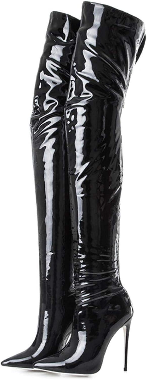Women's fashion over the knee high boots sexy high heels back zipper