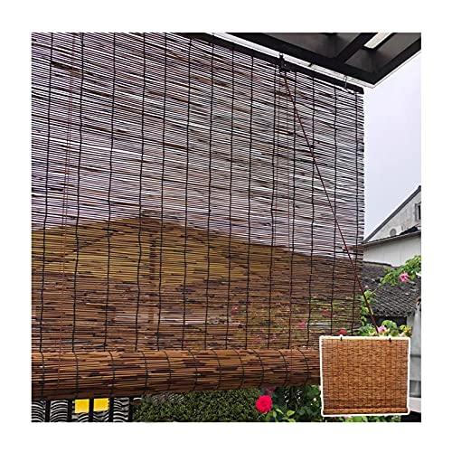 RFGHJ Persianas de bambú, persianas enrollables con Filtro de luz, Cortina de caña Natural, persiana Enrollable de bambú para Ventana, persianas de caña Vintage, para balcón/terraza/jardín/Venta