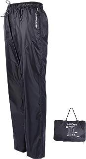 REDCAMP Unisex Rain Pants Waterproof Lightweight with Side Zipper, M/L/XL/XXL PU5000mm Great for Hiking Outdoor, Black