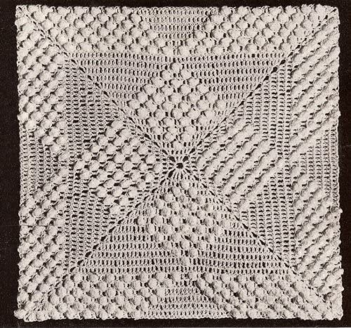 Vintage Crochet PATTERN to make - Great Sale SALE% OFF interest Squares Popcorn BLOCK Be MOTIF