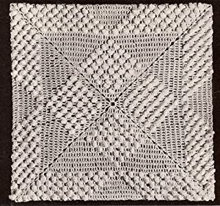 Vintage Crochet PATTERN to make - MOTIF BLOCK Popcorn Squares Bedspread. NOT a finished item. This is a pattern and/or instructions to make the item only.