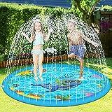 Splash Pad for Toddlers, Sprinkler for Kids Outdoor Water Party 68'' Sprinkler Play Mat Wading...