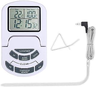 XYXZ Mini Higrómetro Termómetro Digital Higrómetro Termómetro De Carne para Cocinar Pantalla LCD Grande con Modo De Tempor...
