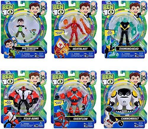 Ben 10 figure set - 6 figures in Rustbucket package