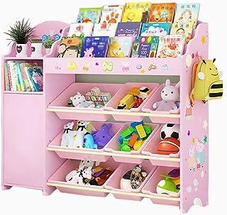 Meubles Bibliothèque de bande dessinée de chambre d'enfant support de stockage de jouet de garçon et de fille bibliothèque...