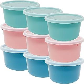 Ensembles de récipients pour aliments en plastique Codil, petits cônes ronds réutilisables sans BPA avec couvercle, lavabl...