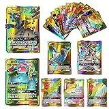 100 Pcs Pokemon GX Flash Cartes Style TCG Holo Puzzle Jeu De Cartes Amusant, Cartes...