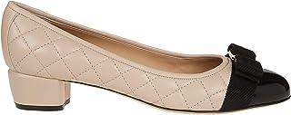 SALVATORE FERRAGAMO Women's 702227 Pink Leather Heels